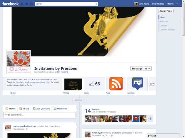 screenshot Cover photo design for new launched Facebook Page timeline