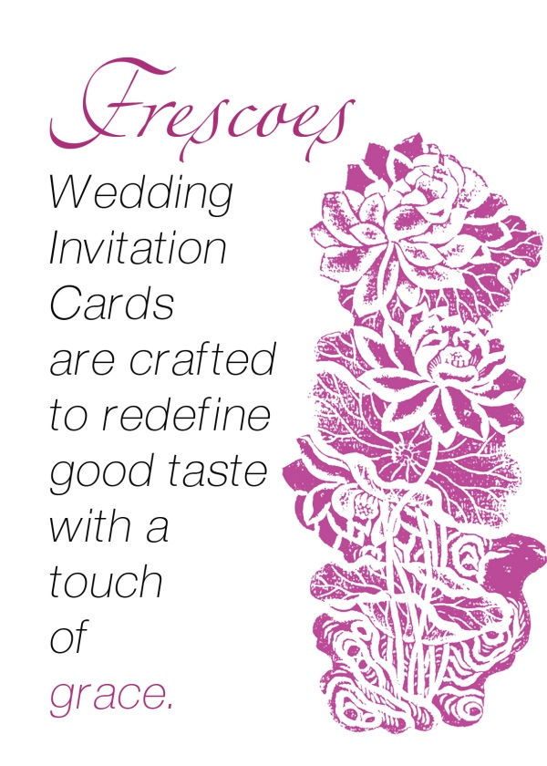 Designer Hindu marriage cards sample