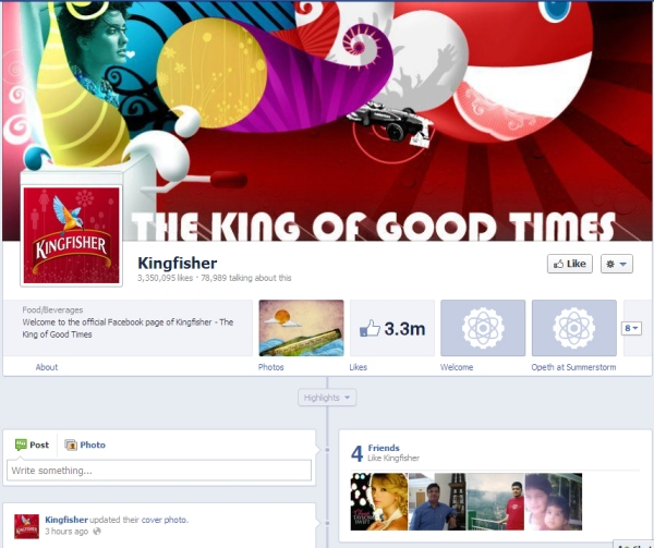 facebook profile timeine for business pages