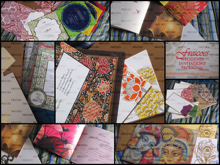 Kolkata Wedding Cards Invitation cards are made in India by Frescoes ...
