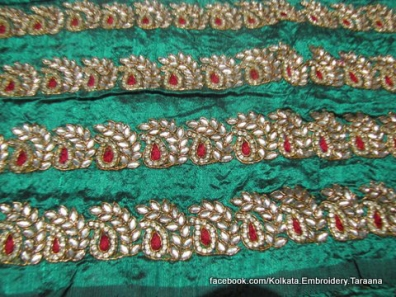 Paisley, baroque, persian, damask, kairi, ottoman motifs in saree borders