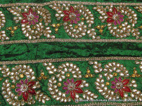 Saree , suit border, trims, laces, appliques, necklines, blouses, cutwork, designer borders, kallis, Ribbons, sequins and beads, goldwork zardozi designs