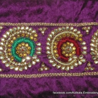 Crystal, Kundan and stonework Embroidery for Sarees and Anarkalis