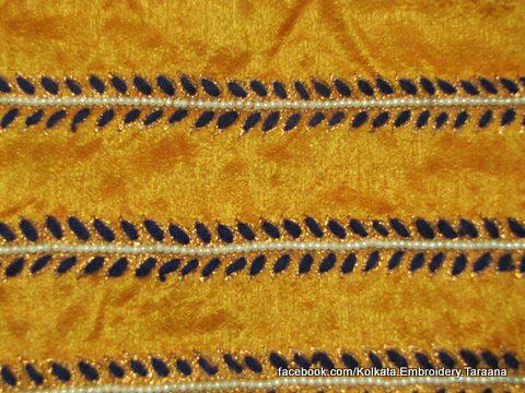 Beads, thread hand made saree lace Border to applique sew on any saree anarkali, gown, dress, skirt, salwar kameez