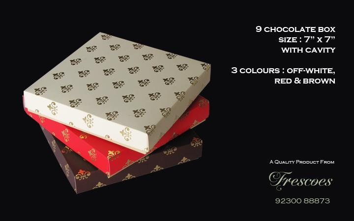 Chocolate Gift Boxes Delhi : Chocolate box packaging frescoes