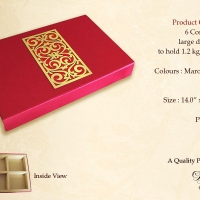 Buy 6-Compartment Designer Laser-Cut Dry Fruit Box for Diwali 2014